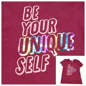 🆕Girl's Old Navy BE YOUR UNIQUE SELF Graphic Tee